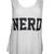 Womens White Black Sleeveless Scoop Neck Geek Nerd Print Pop Vest Top 8 10 12 14   eBay