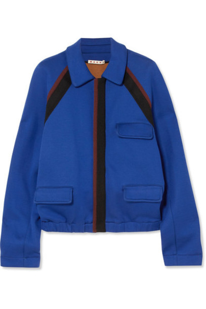 jacket cotton blue royal blue