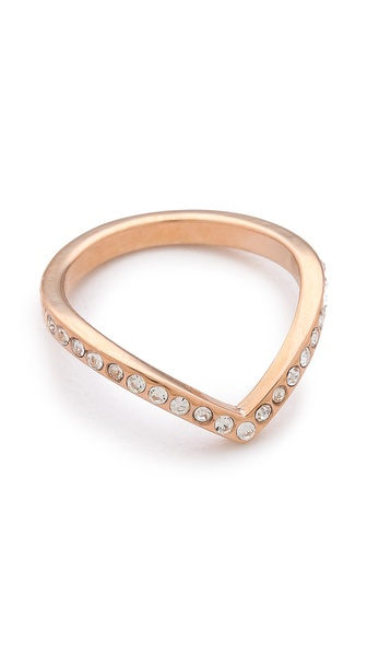 Vita Fede Mini Crystal V Ring |SHOPBOP | Save up to 30% Use Code BIGEVENT14