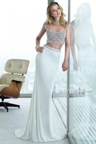 dress formal alyce paris crop tops skirt formal dresses evening maxi skirt