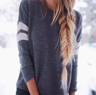 sweater grey sweater long sleeves