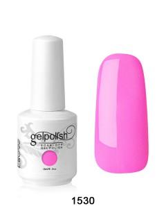 Pink soak off gel nail polish