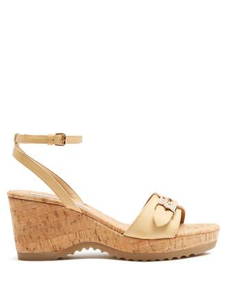sandals platform sandals nude shoes