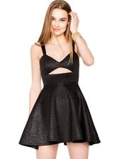 dress,pixie market,pixiemarket,neoprene,little black dress,fit and flare,cut-out,cut-out dress,skater,skater skirt,python print,snake print,cute,cute dress,trendy