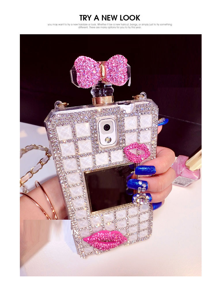 samsung galaxy s5 girly phone cases. kt bowknot kiss lip bling rhinestone diamond perfume bottle case for samsung galaxy s5 s4 s3 note2 note3 i9500 i9600 n7100 n9000-in phone bags \u0026 cases from girly