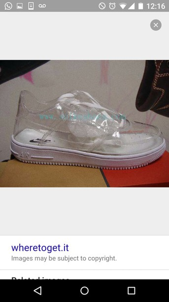 shoes, clear shoes, nike - Wheretoget