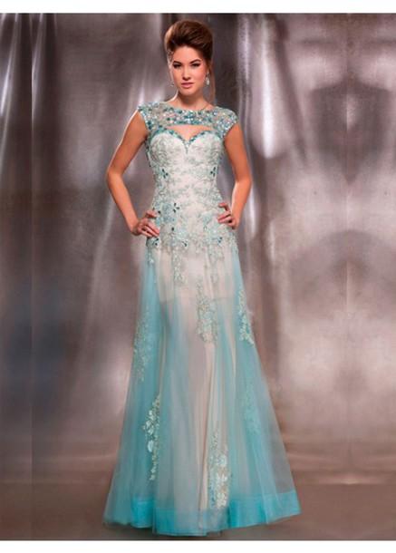 dress blue prom dress long prom dress