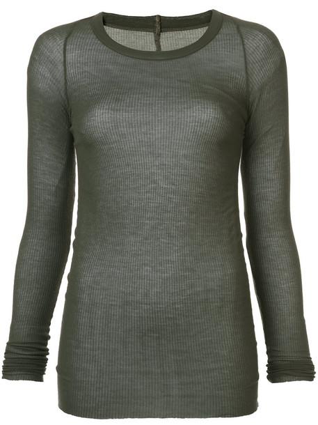 Rick Owens t-shirt shirt t-shirt long women silk grey top