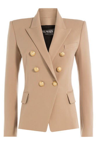 blazer cotton beige jacket