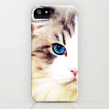Eye of Cat - for iphone iPhone & iPod Case by Simone Morana Cyla on Wanelo