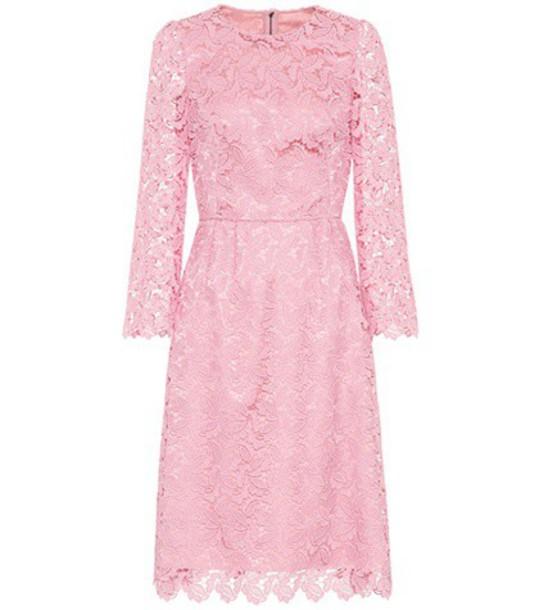 Dolce & Gabbana dress lace dress lace pink