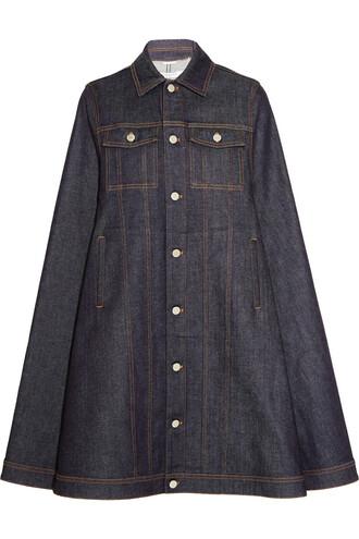 cape denim dark blue top