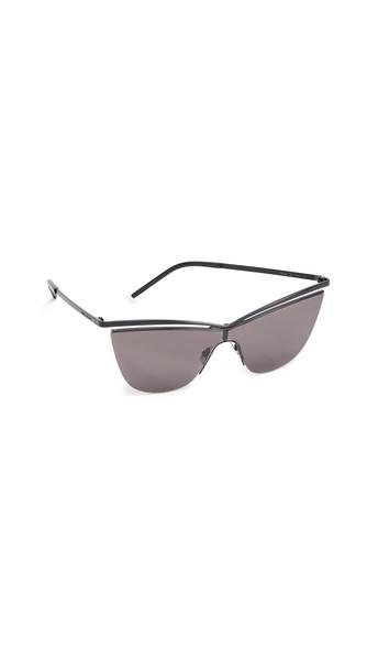 Saint Laurent SL 249 Metal Cat Eye Sunglasses in black