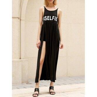 dress rose wholesale black dress selfie maxi dress trendy sleeveless girly