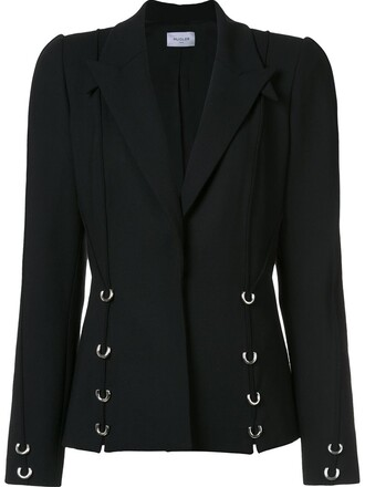 blazer embellished black jacket