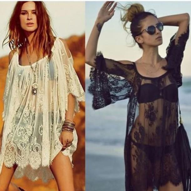 blouse cover up vintage lace