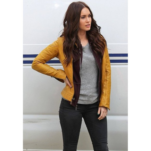 megan fox jacket teenage mutant ninja turtles 2014