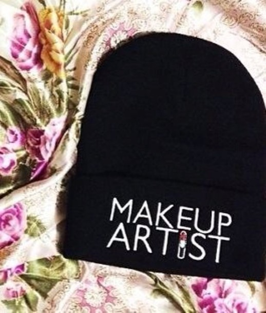 hat beanie beanie Mua black beanie make-up urban outfitters streetwear hat fashion girly blogger streetwear