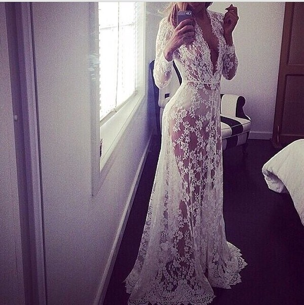dress lace gown lace dress long dress white dress