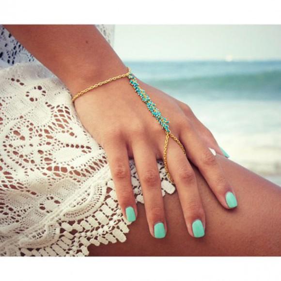 jewels ring bracelets beach jewelry bracelets Nail polish