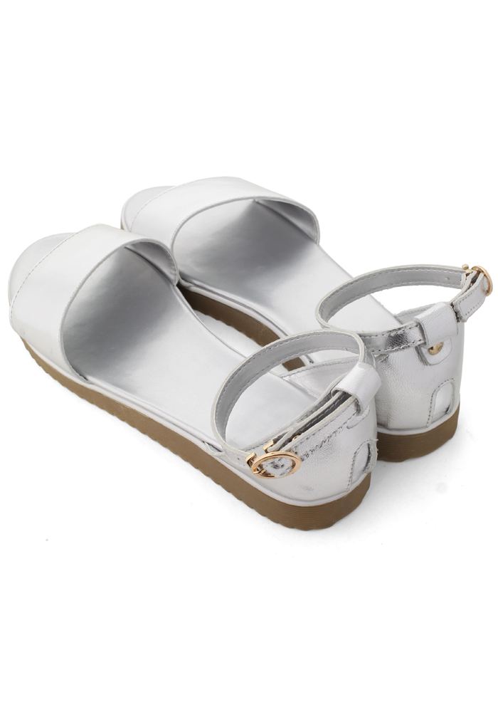 Refreshing New Rome Silver Sandals - Retro, Indie and Unique Fashion