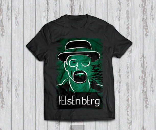 shirt tshirt design heisenberg Breaking Bad heisenberg breaking bad typography t-shirt fashion drugs celebrity