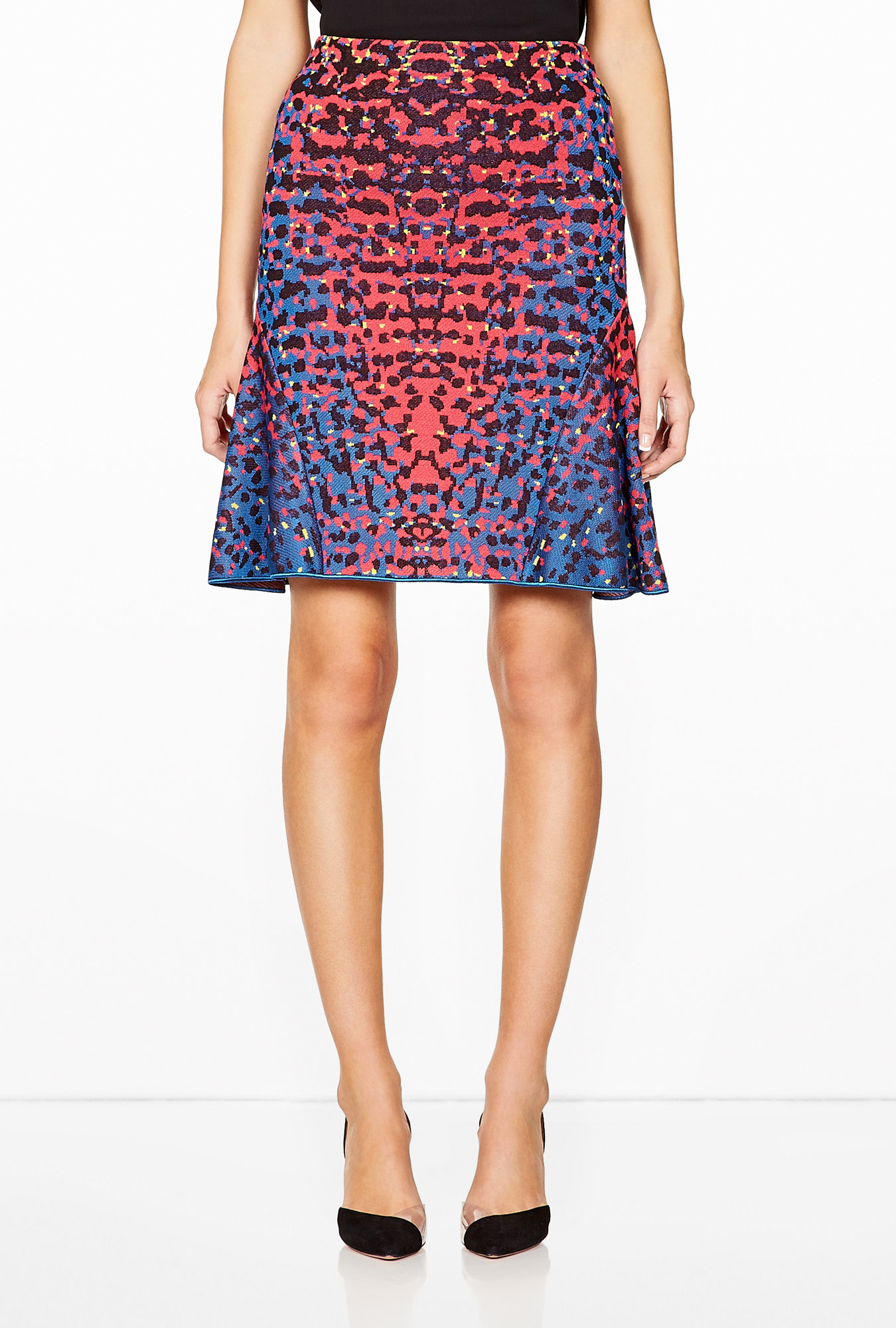 Fluro Lizard Print Skirt by M Missoni