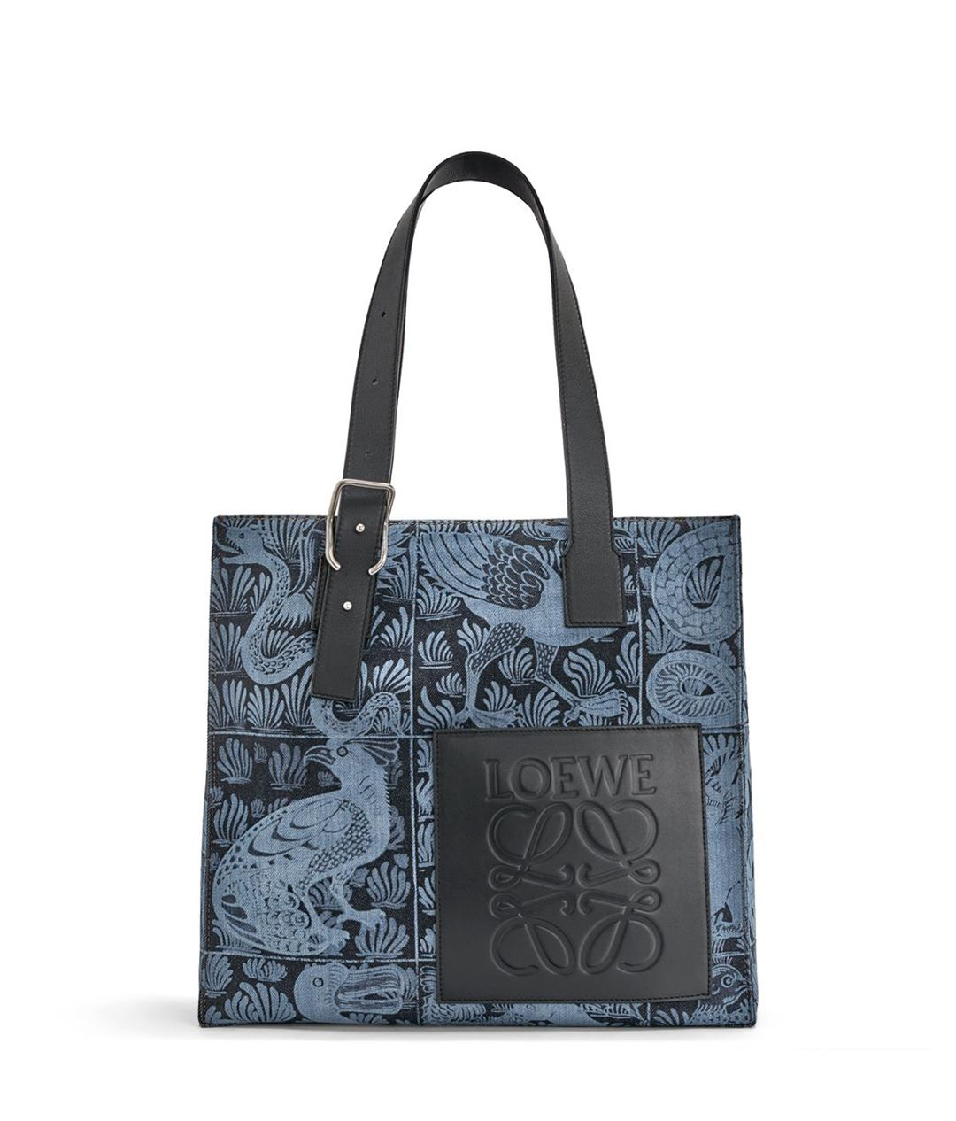 Buckle Tote Tiles Bag