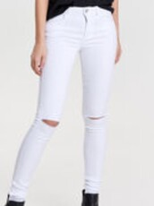 jeans,white,skinny jeans,white ripped jeans