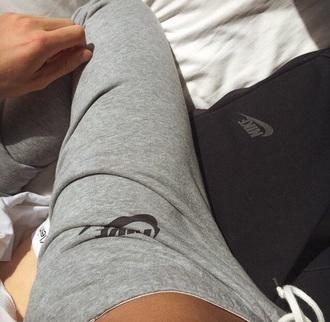 pants nike grey sweatpants
