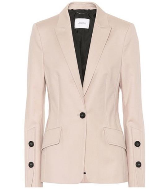 Dorothee Schumacher Bold Silhouette cotton jacket in beige / beige