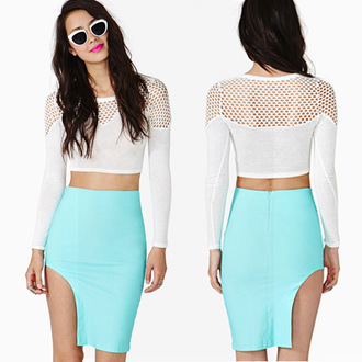 skirt summah breeeze short skirt blue skirt odd skirt unsymmetrical skirt cutout skirt slit skirt
