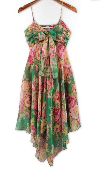 Cute Cheap Bohemian floral slip dress 3549 - Sleeveless Online Shopping Free Shipping 1247294604