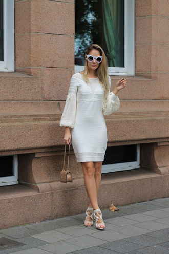 from brussels with love blogger dress shoes bag fall outfits sandals white dress beige bag