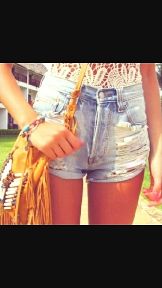 shorts jeans top sac jewels summer outft indie boho grunge t-shirt