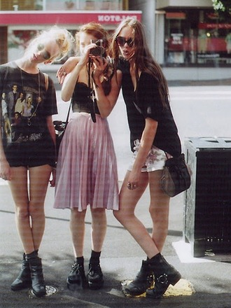 dress hipster grunge skirt pink skirt midi skirt pleated skirt punk pink 90s grunge 90s style pale pink soft grunge skirt