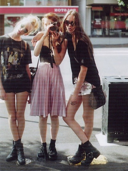 skirt pale pink soft grunge skirt dress hipster grunge pink skirt midi skirt pleated skirt punk pink 90s style 90s style