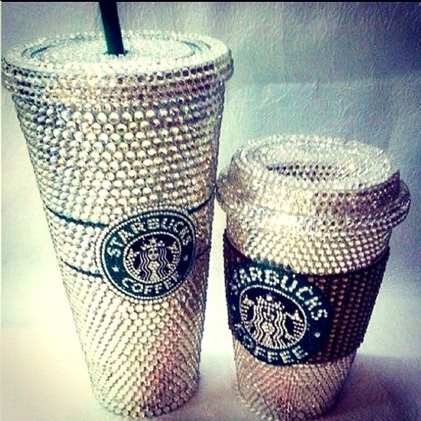 home accessory starbucks coffee diamonds mug sparkle dope travel mug