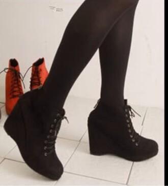 shoes black heels wedges oxfords heels