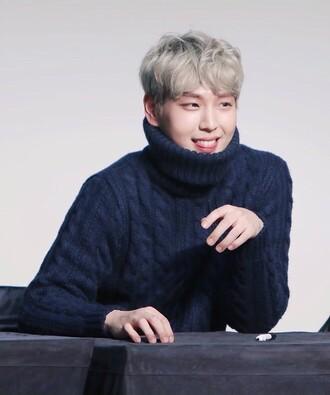 sweater k-pop kpop tshirt turtleneck oversized turtleneck sweater black knitwear knitted sweater