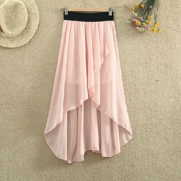 Fashion dovetail chiffon skirt