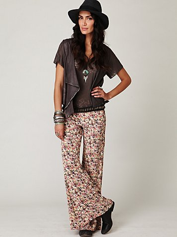 1 floral fields wideleg pant at free people clothing boutique