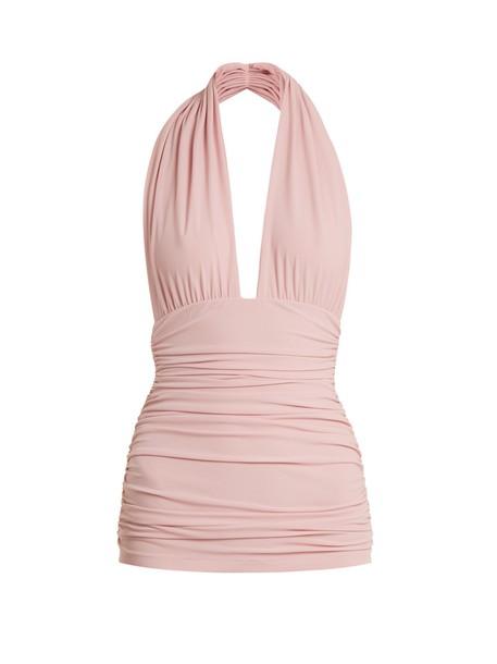 Norma Kamali pink swimwear