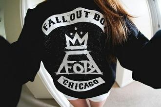band t-shirt band merch fall out boy band sweater