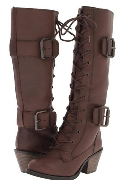 boots, dark brown derby, size 9.5, size
