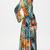 Vestido Maxi floral cuello pico-Multicolor