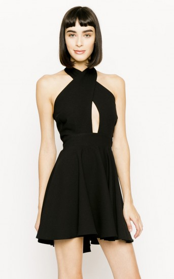 Crisscross Vixen Dress in Black