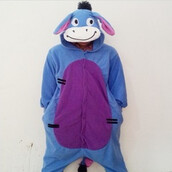 coat,kigurumi,blue donkey,onesie,animal onesies,pajamas,kigurumi animal onesies