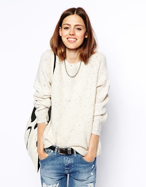 ASOS | ASOS Ultimate Chunky Jumper In Nep at ASOS