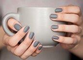 nail polish,nails,grey,matte,grey matte nail polish,trendy,beautiful,winter outfits,2013,matte nail polish